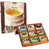 Numi Organic Tea Flight Variety Gift Set, 45 Bags, An Assortment of Teas in a Bamboo Tea Chest, Includes Black, Pu-erh, Green, Rooibos, and Herbal Teas, Organic Tea Gift Box