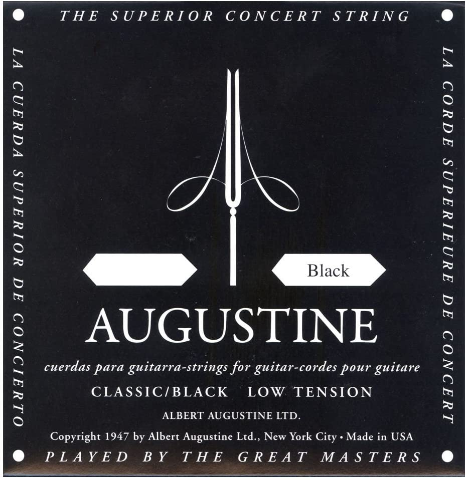 Augustine Cuerdas para Guitarra Clásica, Negro, Mi1, Tensión Regular
