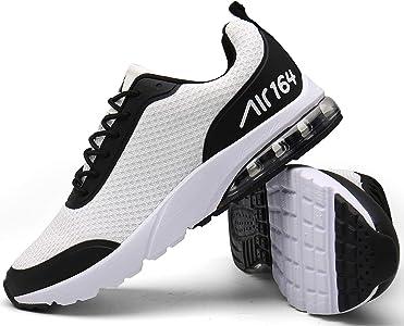Mishansha Zapatillas de correr para hombre y mujer, amortiguación, antideslizantes, transpirables, ligeras, zapatillas de deporte, talla 36 – 46, color Blanco, talla 36 EU: Amazon.es: Zapatos y complementos