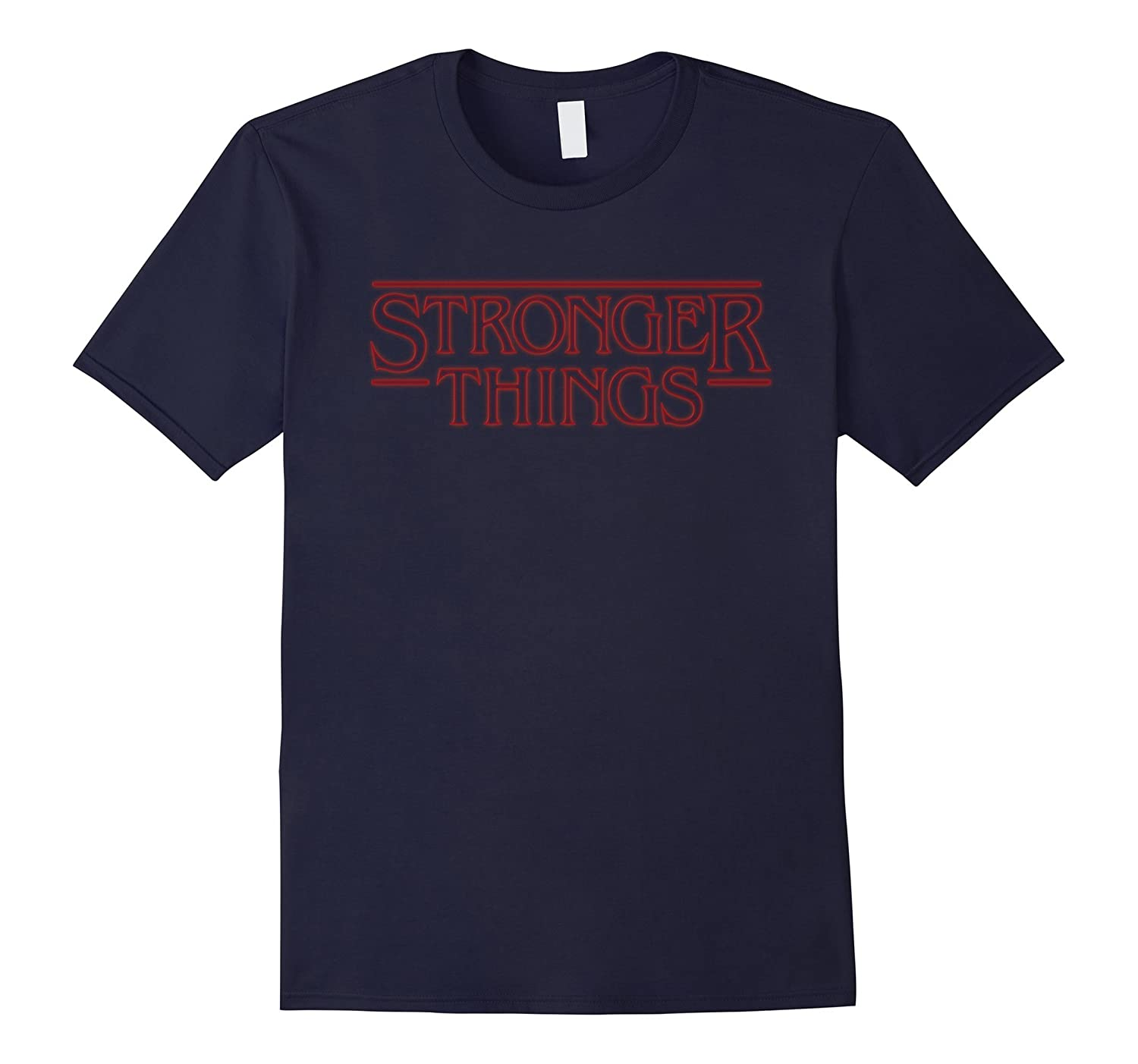 Stronger Things Parody Athletic Fitness Workout Gym T-Shirt-FL