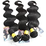 ALI HOT Hair Best Quality Brazilian Virgin Hair Extension Body Wave, Mixed Length 18inch 20inch 22inch 3pcs 300g Per Lot,fast Shipping