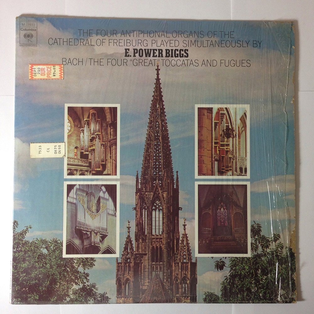 E. Power Biggs Plays Bach: The Four Great Toccatas and Fugues by Columbia Masterworks