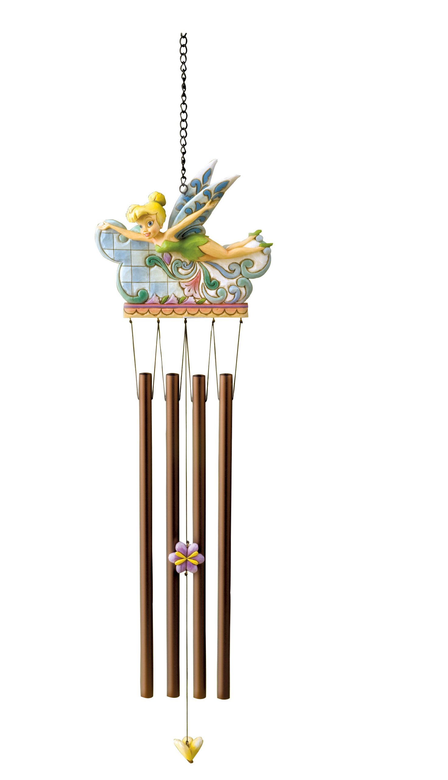 Disney Traditions by Jim Shore 4013259 Tinker Bell Garden Windchime 18-Inch