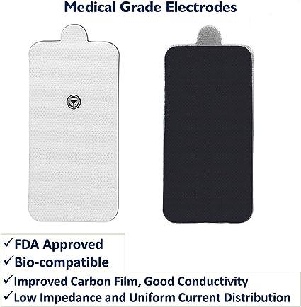 TENS Electroestimulador Almohadillas Electrodos para electrodo ...