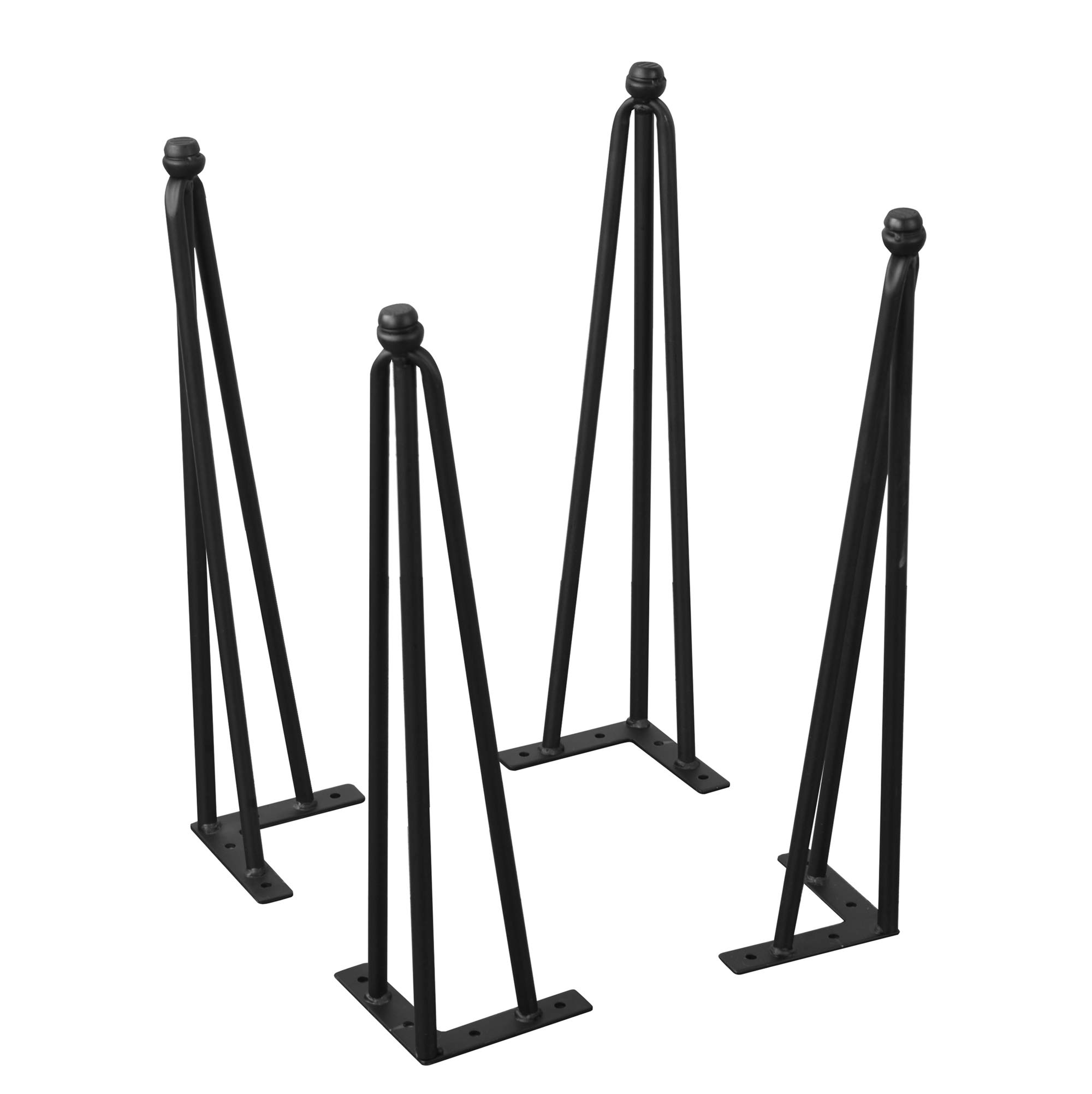 Home Soft Things Serenta Hairpin Table Legs 4 Piece Set with Adjustable Cushion, 20''