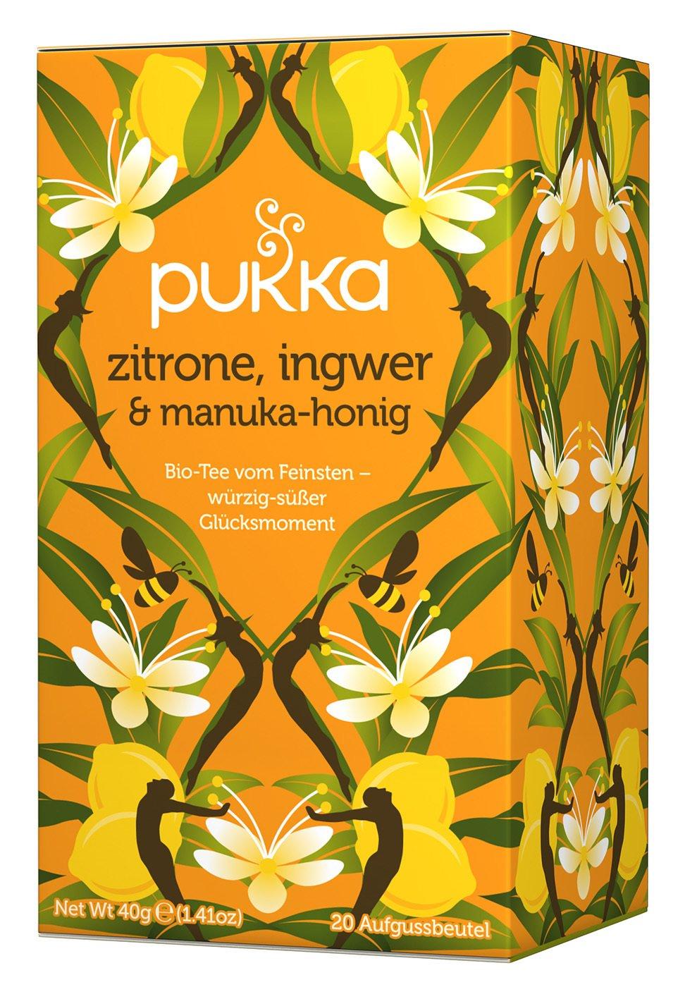 Pukka Organic Herbal Tea Lemon Ginger & Manuka Honey -- 20 Tea Bags