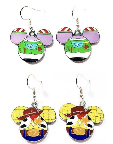1ceab1016d44d Amazon.com: 2 Pairs Disney Mickey Mouse Head Toy Story Woody Buzz ...