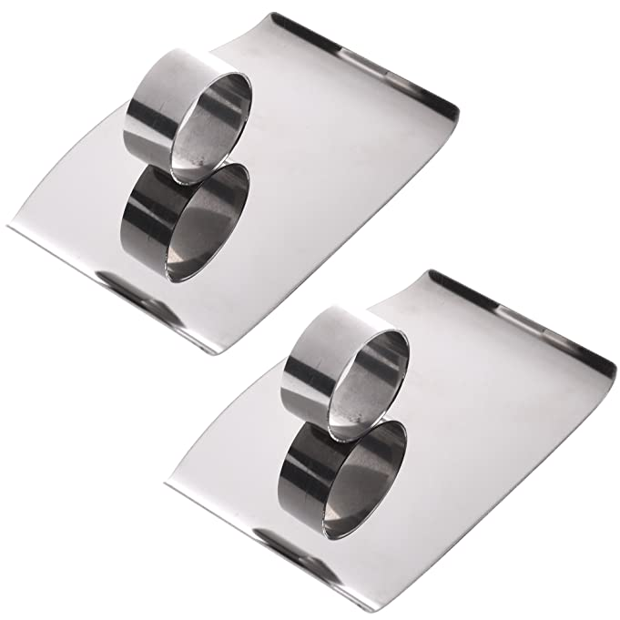Amazon.com : COSMOS 2 Pcs Stainless Steel Slicing Cutting Protector Finger Protector Kitchen Tool : Garden & Outdoor