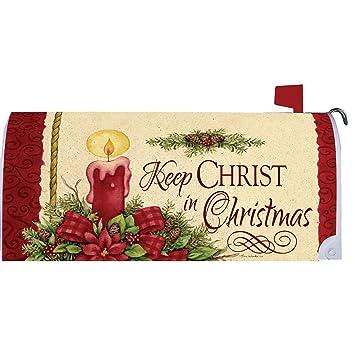 Keep Cristo buzón makover Cover – Vinilo witn magnético tiras para buzón de acero estándar rurales