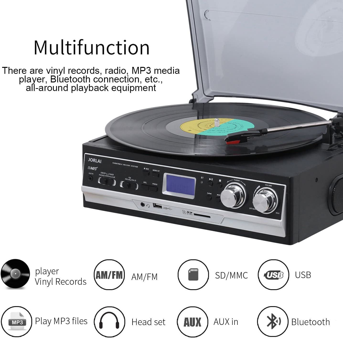 yuanmaoao 33 45 78 RPM LP disco de vinilo tocadiscos fono tac/ómetro calibraci/ón disco estrobosc/ópico