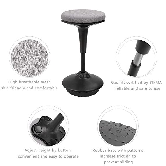 Amazon.com: Tuoze Standing Desk Chair Adjustable Height ...
