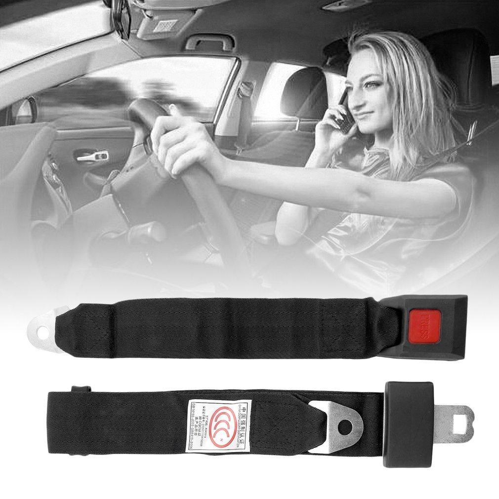 YTCYKJ Universal Black Car Seat Belt Lap Belt Two Point Adjustable Safety