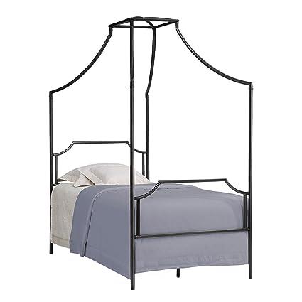 Amazon.com: Metro Shop Bailey Twin Size Metal Canopy Bed-Bailey Twin ...
