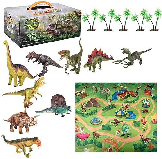 Dough.Q Set de Juguetes de Dinosaurios, 9 realistas Dinosaurios + ...