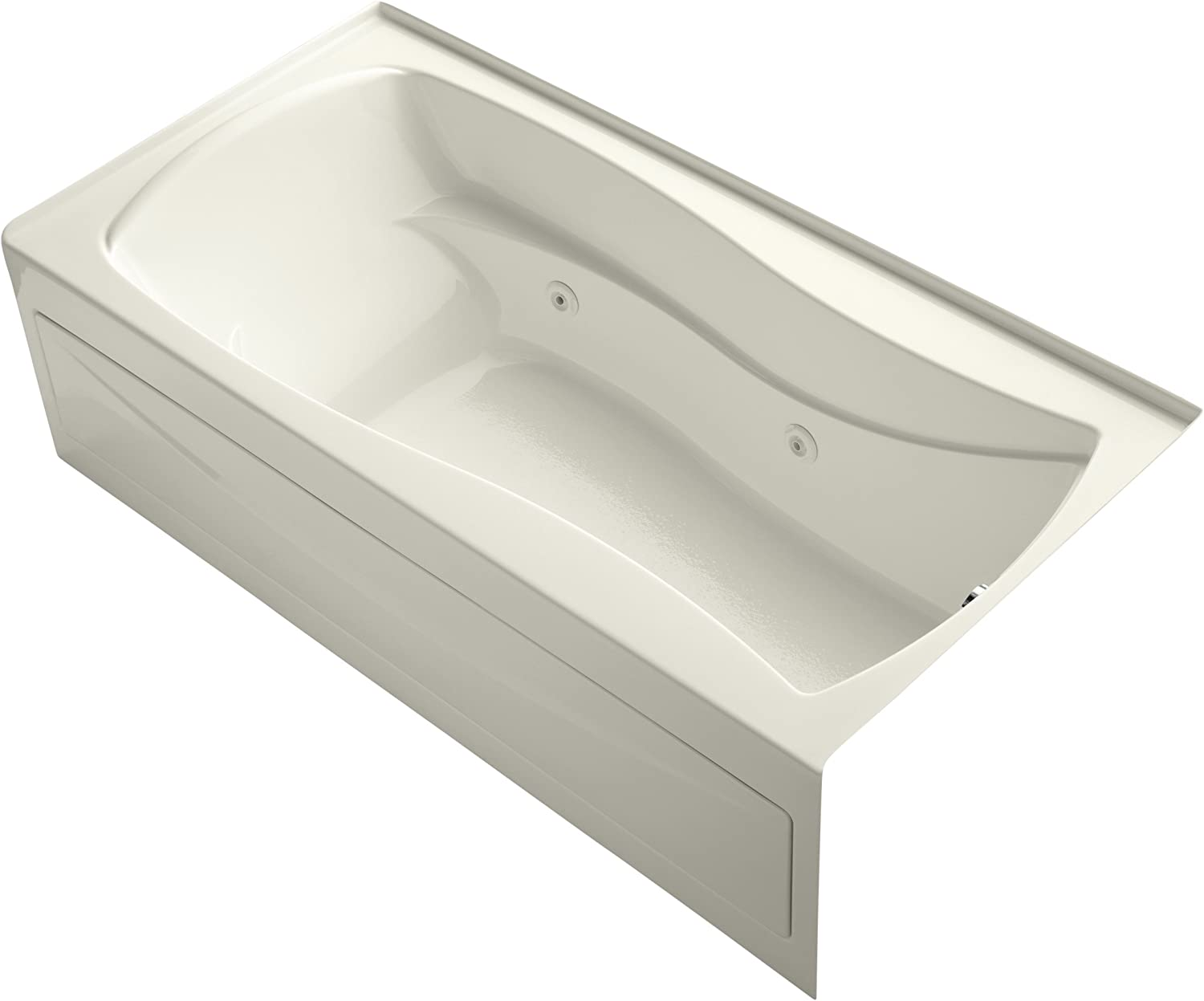 KOHLER K-1257-RA-96 Mariposa 72-Inch X 36-Inch Alcove Whirlpool with Integral Apron, Tile Flange and Right-Hand Drain, Biscuit