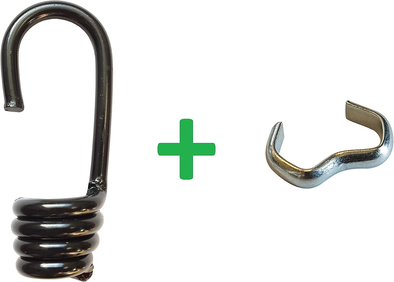 10 ganchos en espiral + abrazaderas de cuerda de goma de 8 ...
