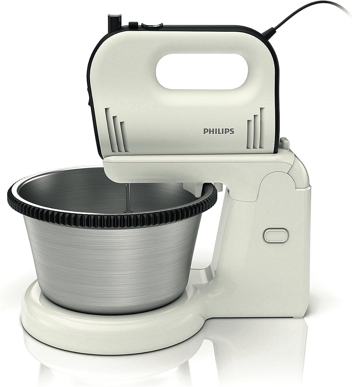 Philips HR1594/00 - Amasadora Avance Collection con función FlexiMix 750W, velocidad variable y turbo, con recipiente giratorio de 3,4 l
