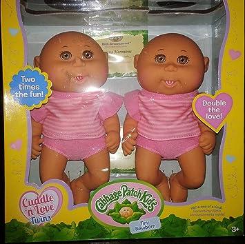 Amazon. Com: cabbage patch cuddle n love tiny newborn twins.