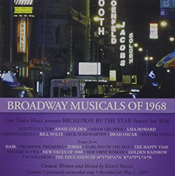 Broadway Musicals Of 1968: Various Artists, Original New