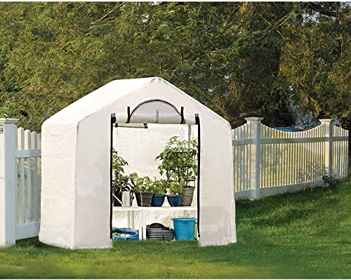 ShelterLogic 6 x 4 x 6 GrowIT Outdoor Backyard Garden Greenhouse and Compact Waterproof Plant Shelter – Translucent 70208