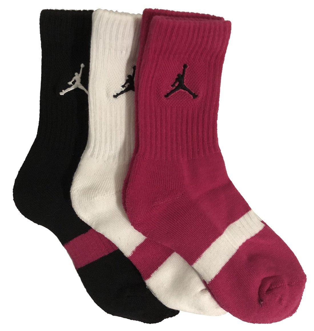 Jordan Kids 3-Pack Crew Socks 3Y-5YShoe Size/7-9 Sock Size