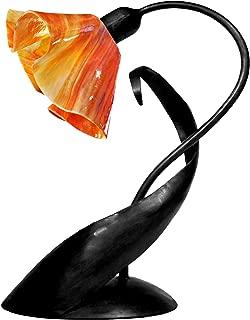 product image for Jezebel Signature TLLD-B-LP14-ZIN Lily Style Black Lazy Daisy Lamp, Zinnia