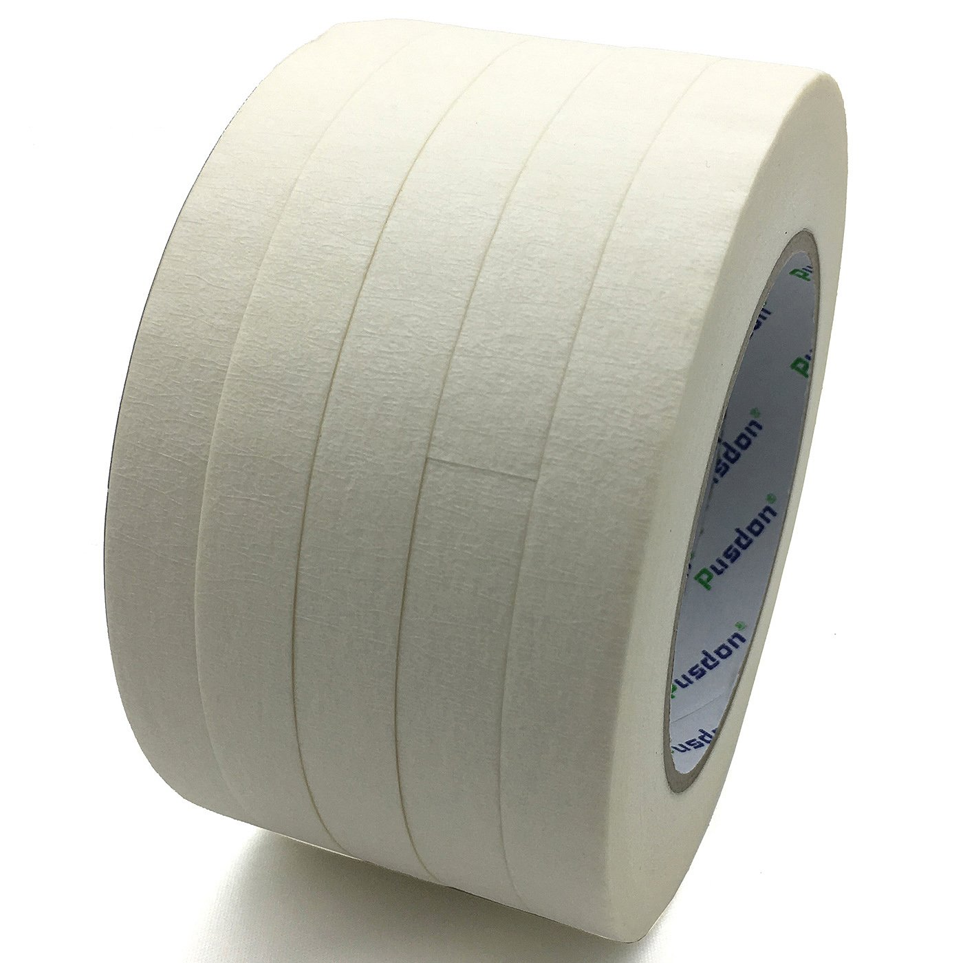 Pusdon Masking Tape, White, Pack of 5, Each 1/2-Inch x 60 Yards (13mm x 55m)