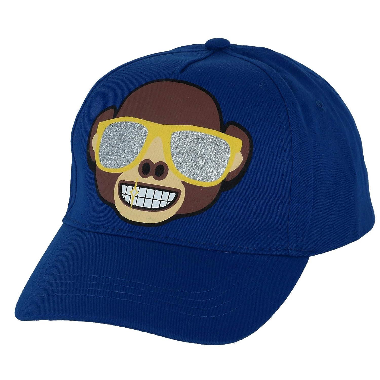 Emoji - Gorro - Liso - para niño Azul Azul Talla única: Amazon.es ...