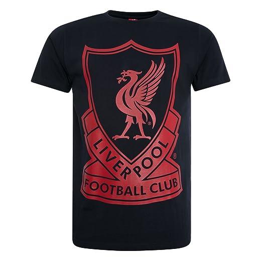 c47b6164c43 Amazon.com: Liverpool FC LFC Mens Navy Vintage Crest Tee Official ...