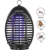 COMLIFE Lámpara de Mosquito Antimosquitos para Mata Mosquitos UV 360° Mata Insectos Sin Químicos para Hogar, Oficina, Patio, Jardín y Camping al Aire Libre