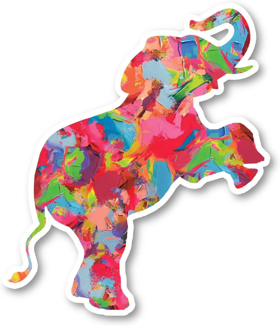 "Elephant Standing Sticker Watercolor Paint Stickers - Laptop Stickers - 2.5"" Vinyl Decal - Laptop, Phone, Tablet Vinyl Decal Sticker S1235"