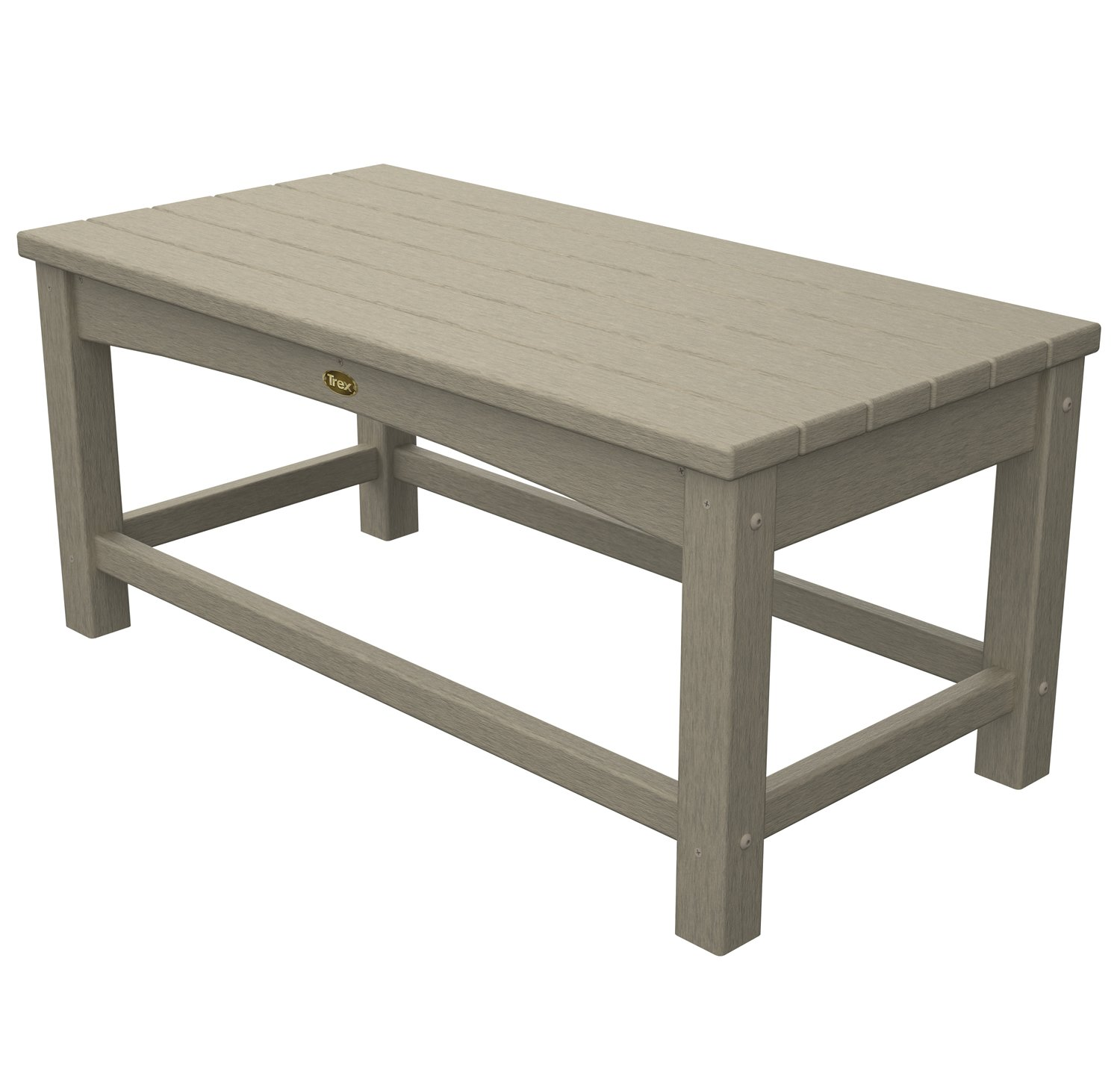Trex Outdoor Furniture Rockport Club Coffee Table, Sand Castle