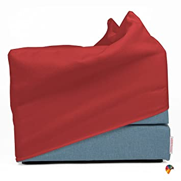 Arketicom Touf - Cama que se transforma en puff, poliuretano, varios tamaños y colores, Rosso Ferrari, 80x63x45: Amazon.es: Hogar