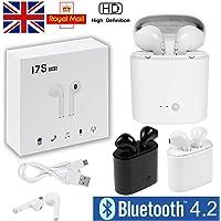 Hanbaili kablosuz stereo kulaklık, I7S TWS Bluetooth Mini IN-EAR Sport-kulaklıklarla, Noise Cancelling, entegre mikrofon, telefon fonksiyonu, şarj durumu ile iPhone, Samsung, iPad için Beyaz CW-167699