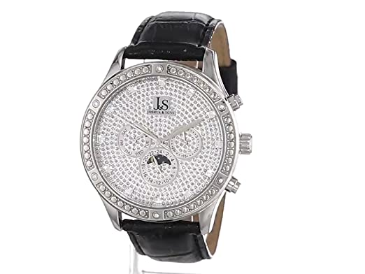 Amazon.com: Joshua & Sons Mens JS-41-SS Sparkling Mechanical Multi-Function Strap Watch: Watches