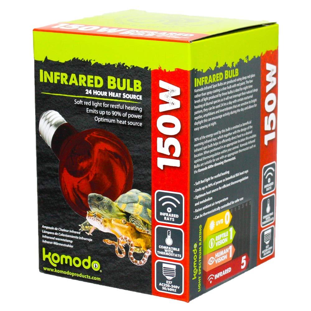 250/W 12.5/cm f-bright Infrared Lamp E14 Red