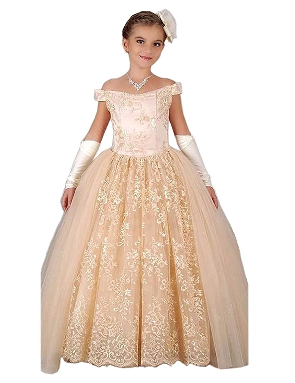 Amazon.com: yeoyaw Niñas Off hombro vestido de princesa ...