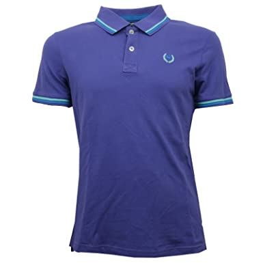 C7198 polo maglia uomo ALCOTT N 53 viola t-shirt men [S]: Amazon ...