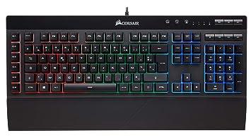 fc4a3be7102 Corsair K55 RGB Gaming Keyboard PC/Mac, Keyboard (French Layout ...