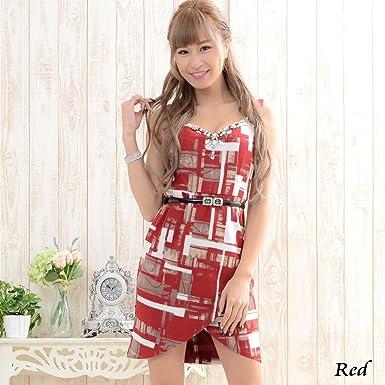 b50d869b862dc ドレス レディースワンピース あすつく 高級ライン 赤のみのため超特価 ベルトつきビジュー