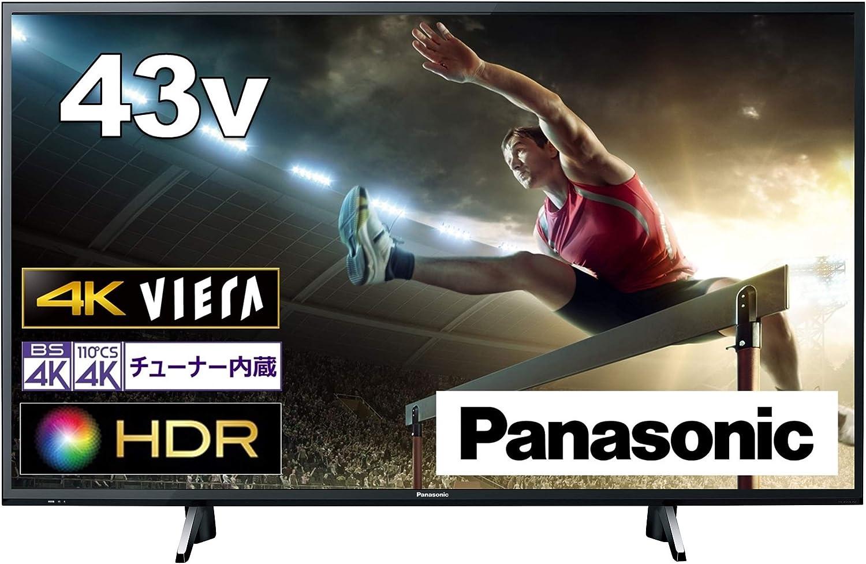 パナソニック 43V型 4Kチューナー内蔵 液晶テレビ ビエラ TH-43GX750 高輝度IPSパネル スマートテレビ (ネット動画対応)