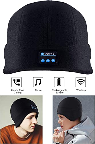 Bluetooth Beanie Hat,ERNSTING Bluetooth 5.0 Wireless Hands-Fre Headphones Music Hat Built-in Stereo Speakers and Microphone Washable Suitable As A Gift For Men And Women To Exercise Outdoors In Winter