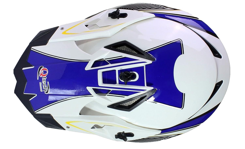 XL 61-62cm Qtech Casque de Motocross Moto Helm Enduro Quad ATV FMX MTB MX Rouge