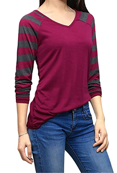 Mujer Rayas Camiseta Blusa Mangas Largas Casual Elegante A Rayas Oficina Blouses T Shirt Cute Ligero