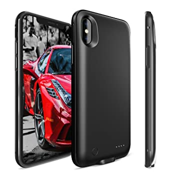 Funda Bateria iPhone X, Myriann 5000mAh iPhone X Externa Bateria Portatil Recargable Cargador de Bateria Carcasa Protectora para iPhone X