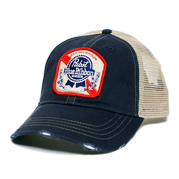 da3ad66f037 Image Unavailable. Image not available for. Color  Pabst Blue Ribbon  Trucker Hat