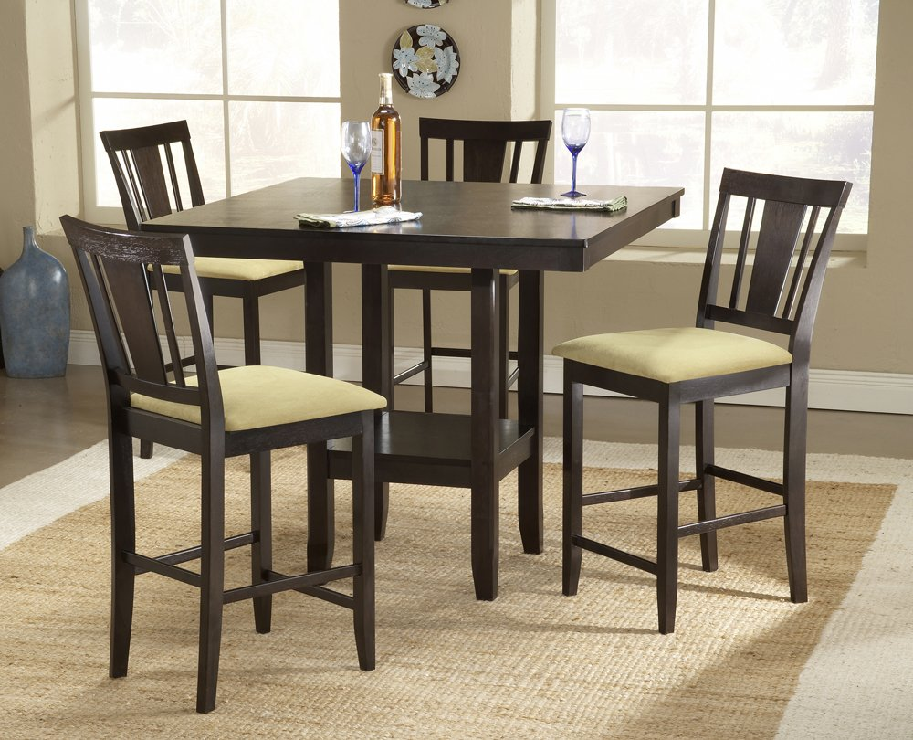 Amazon.com   Hillsdale Arcadia 5 Piece Counter Height Dining Set W/Slat  Back Stools   Chairs