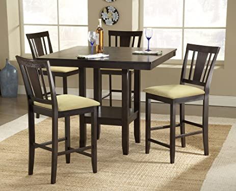 Hillsdale Arcadia 5 Piece Counter Height Dining Set W/Slat Back Stools
