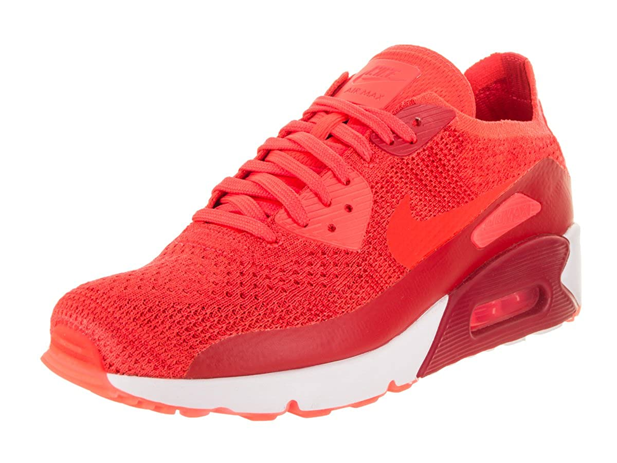on sale 57d8b aa144 Amazon.com  Nike AIR MAX 90 Ultra 2.0 Flyknit Crimson RED White Mens  Running 875943 600  Fashion Sneakers