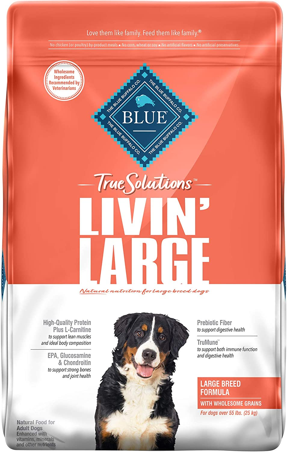 Blue Buffalo True Solutions Livin' Large Natural Large Breed Adult Dry Dog Food